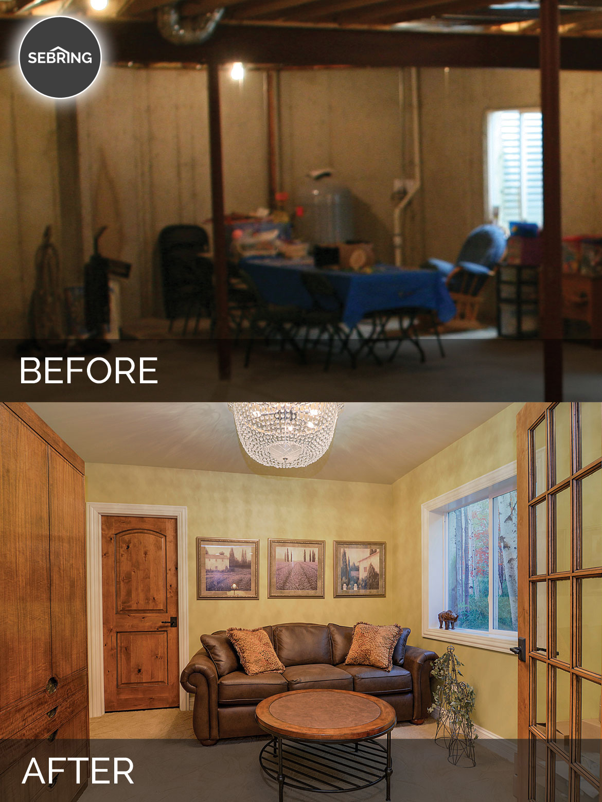 Brian Amp Danica S Basement Before Amp After Pictures Home