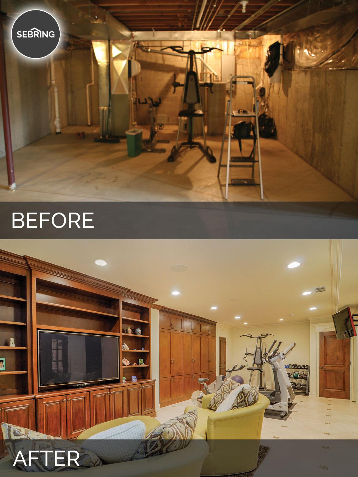 steve ann 39 s basement before after pictures home remodeling contractors sebring design build. Black Bedroom Furniture Sets. Home Design Ideas