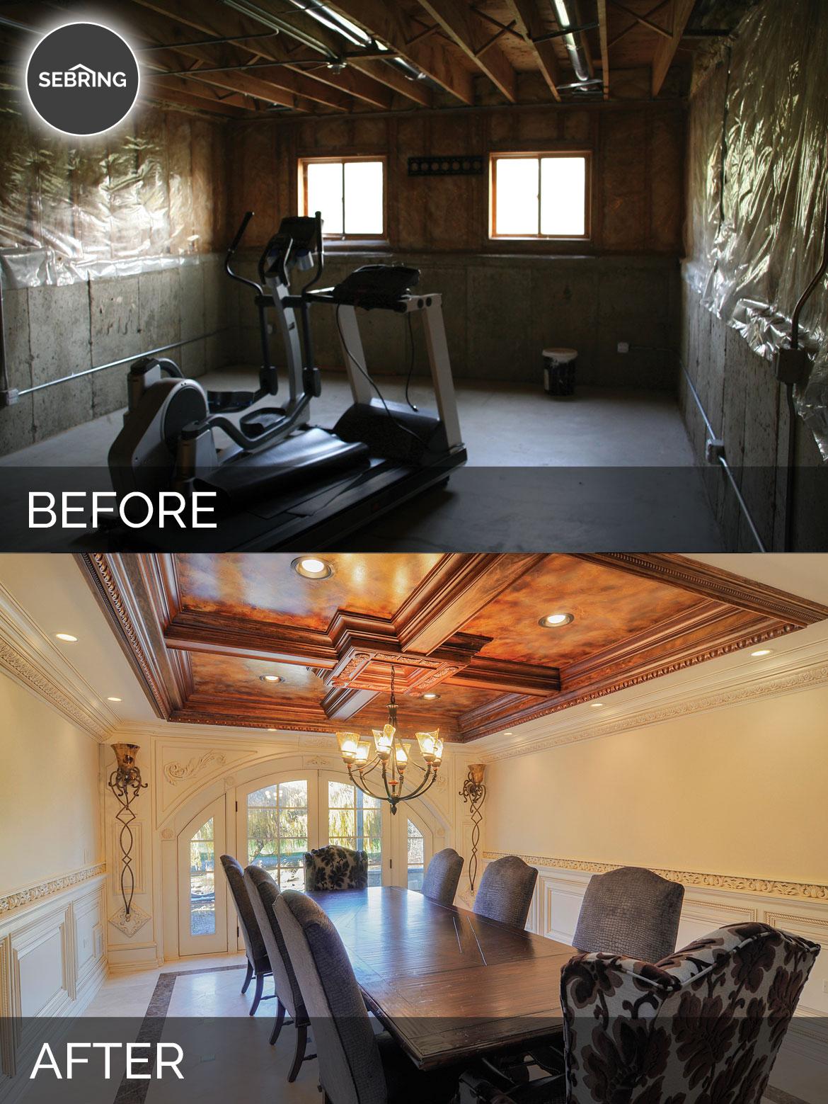 Before & After Basement Naperville - Sebring Design Build