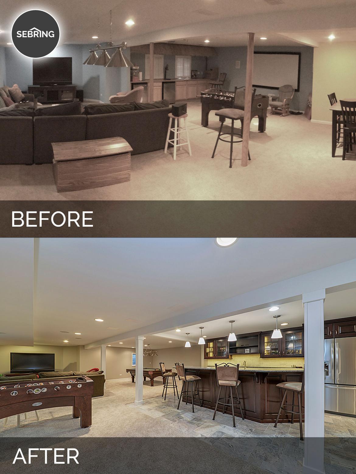Before & After Basement Aurora - Sebring Design Build