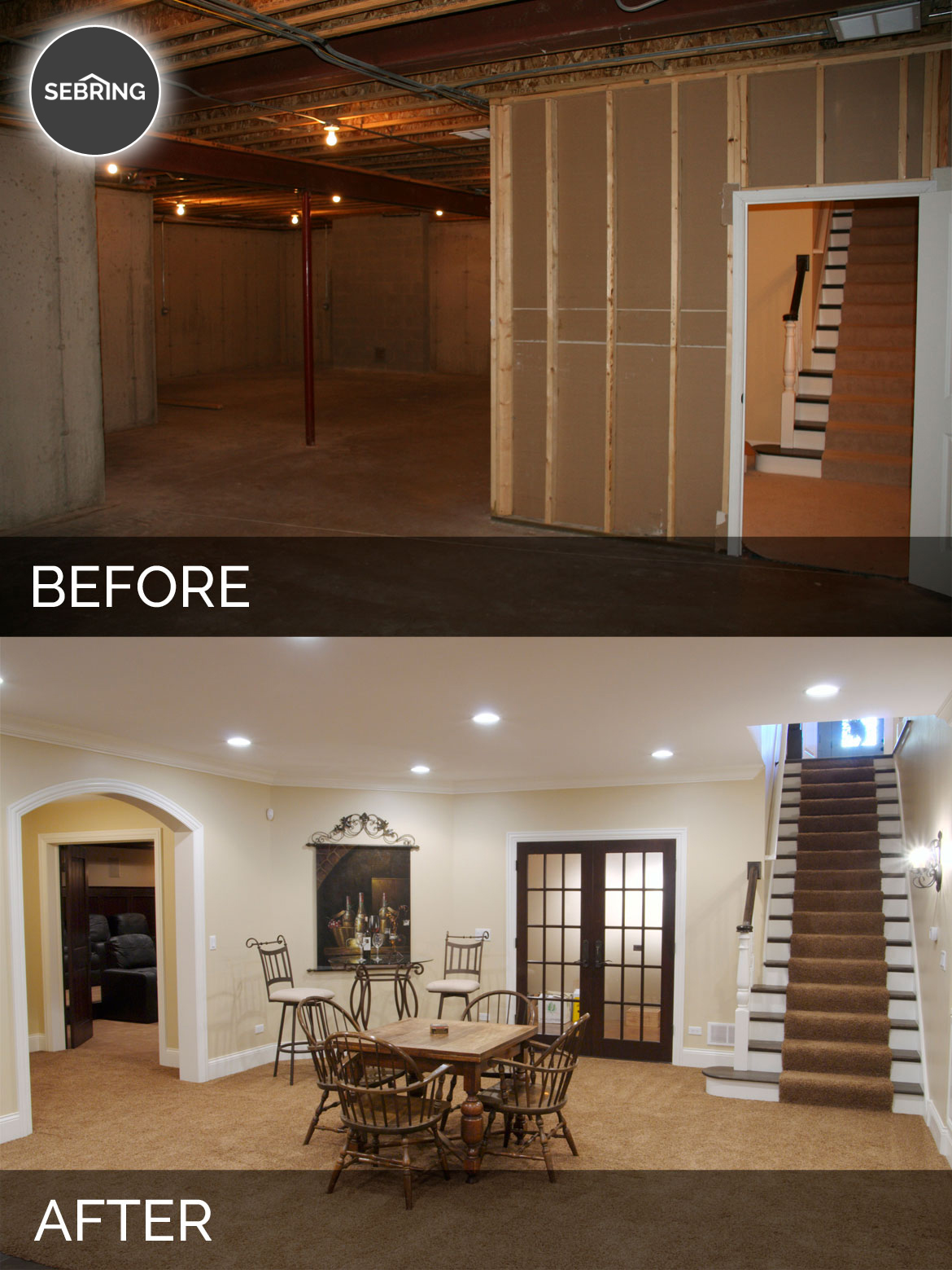 Before And After Diy Kitchen Renovation: Steve & Elaine's Basement Before & After Pictures