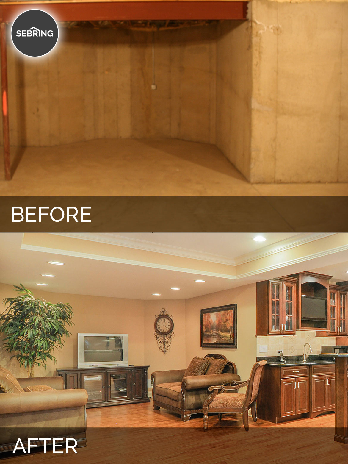 Basement Remodeling Naperville Il mark & kim's basement before & after pictures | home remodeling