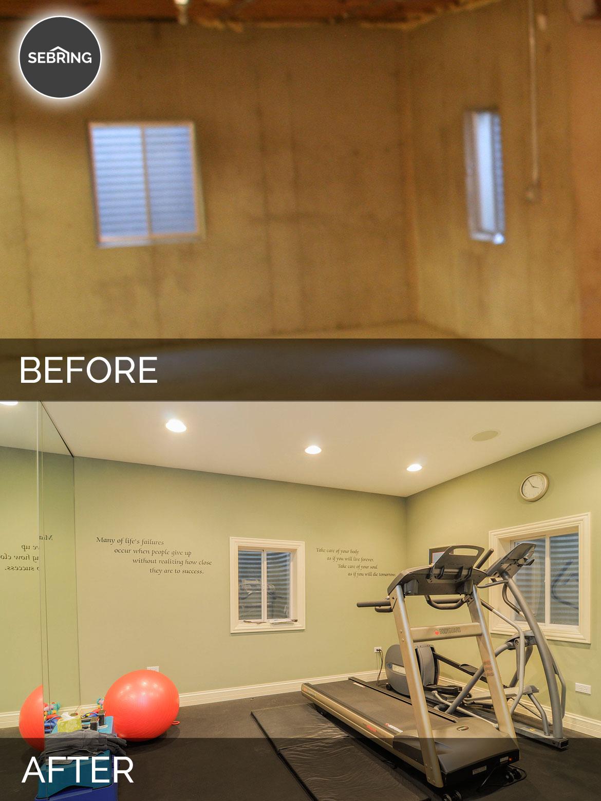 Before & Wheaton Basement Naperville - Sebring Design Build