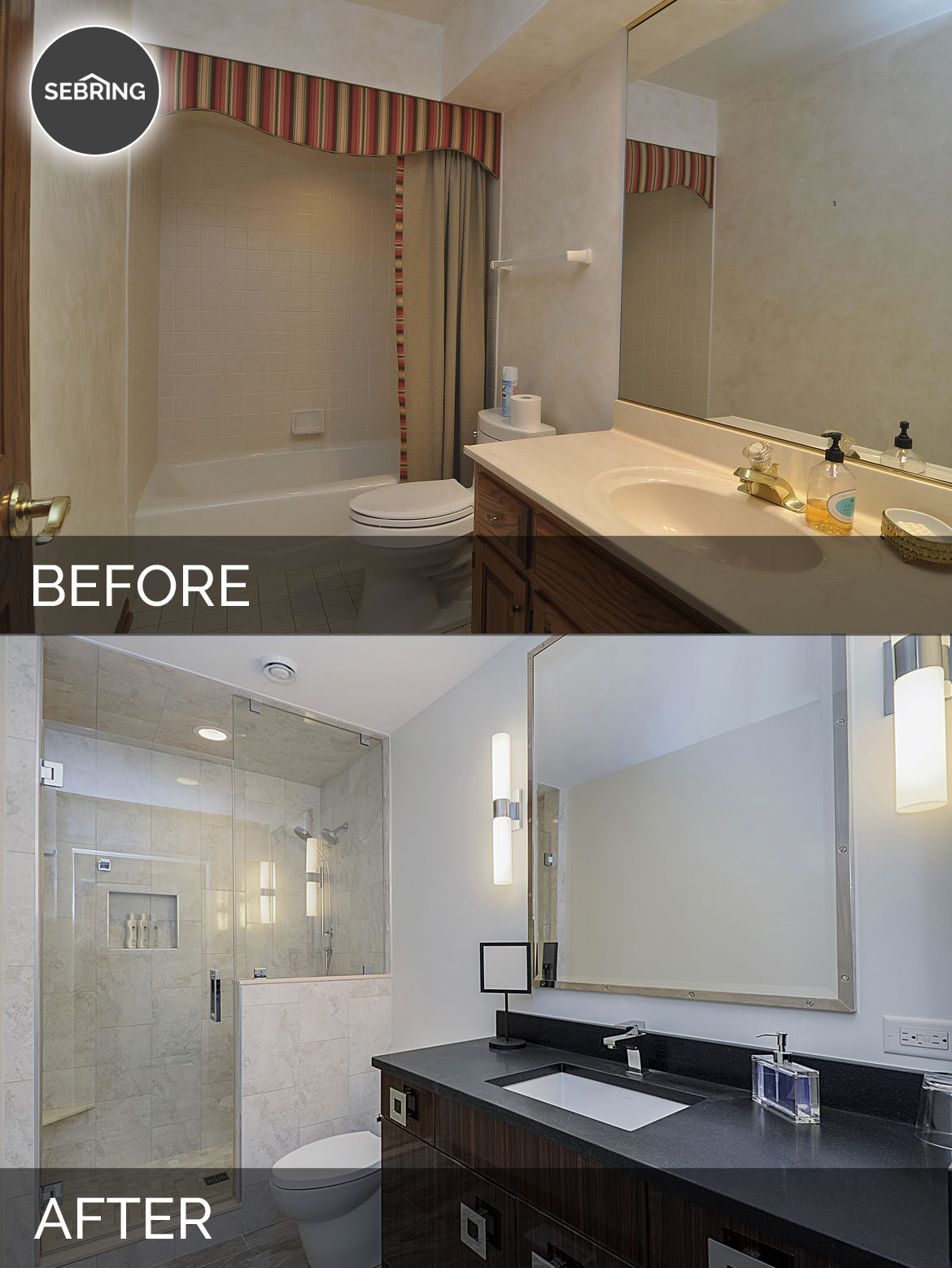 Home Remodeling Ideas Gallery: Jeff & Betsy's Hall Bath Before And After Pictures