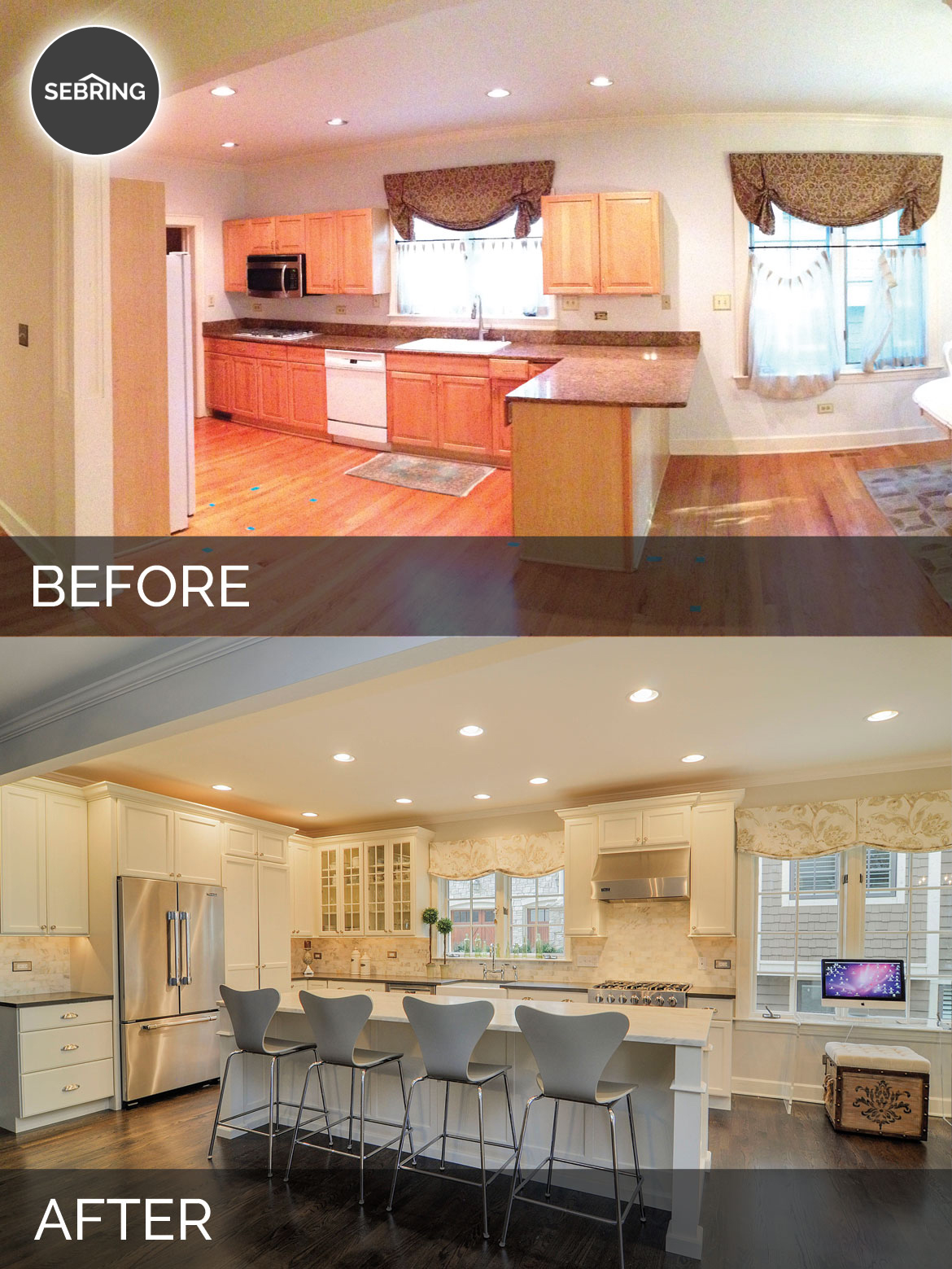 Ben ellen 39 s kitchen before after pictures home Before and after interior design projects