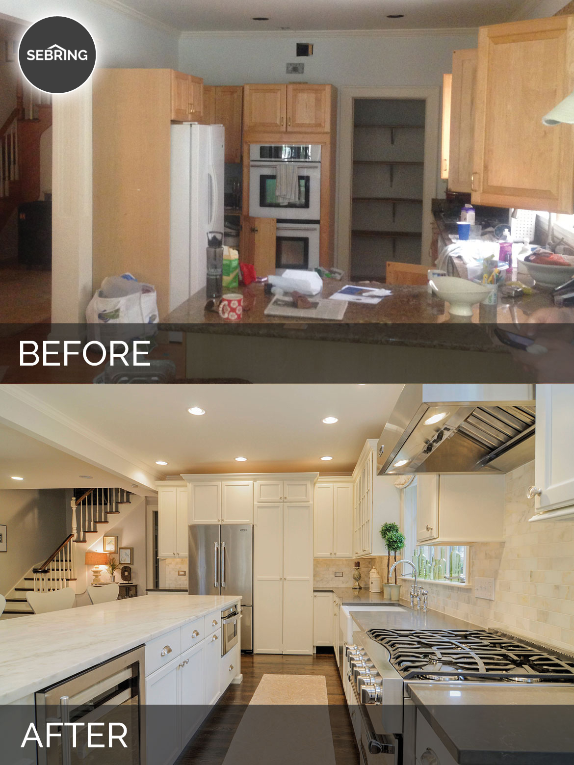 Before & After Kitchen Downers Grove - Sebring Design Build