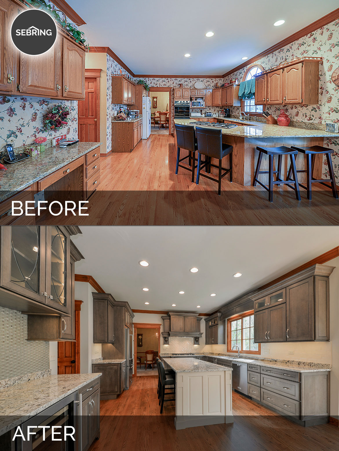 Kitchen Remodel Wheaton Before & After - Sebring Design Build