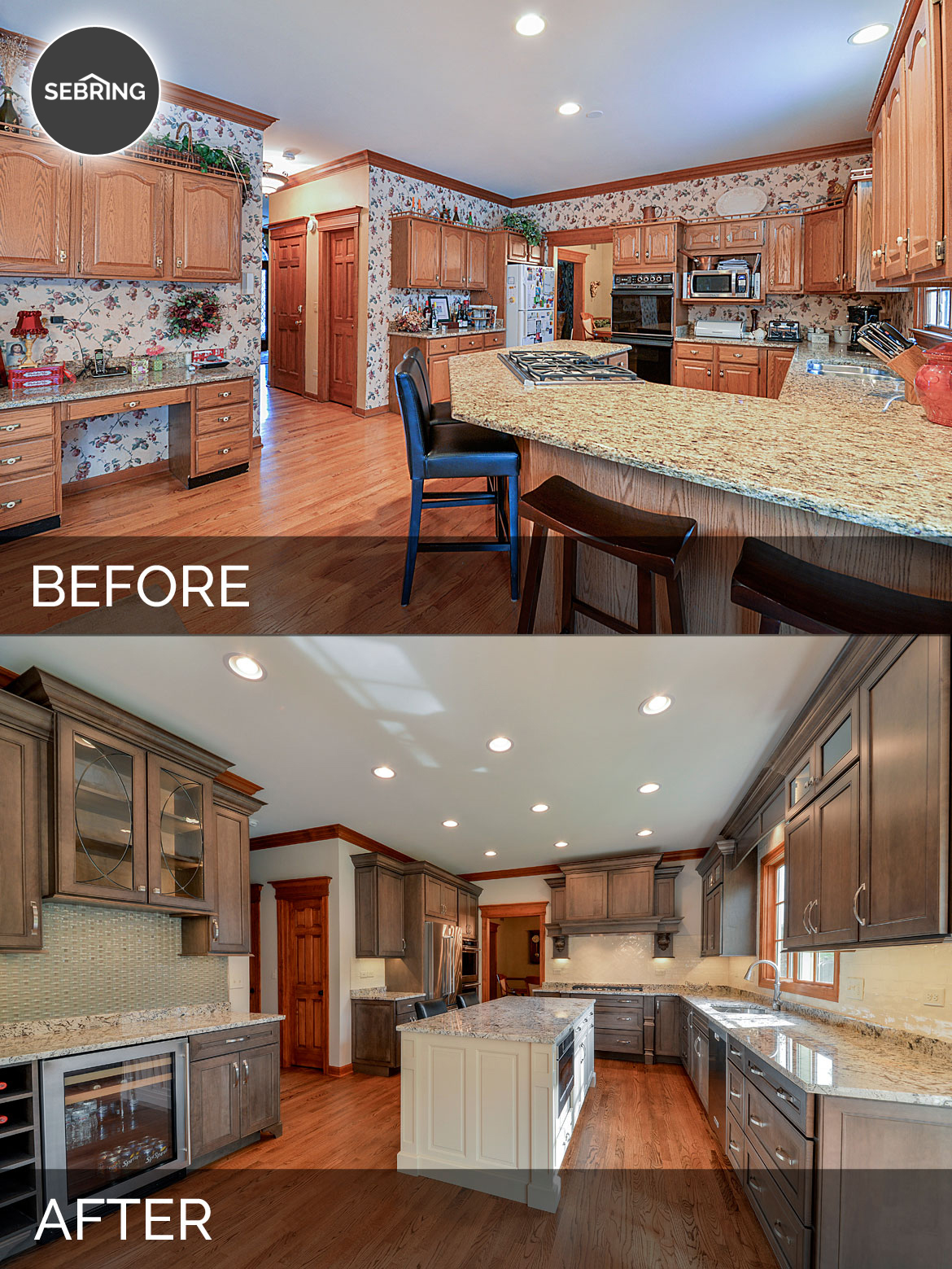 Scott karla 39 s kitchen before after pictures home for Kitchen remodel before after