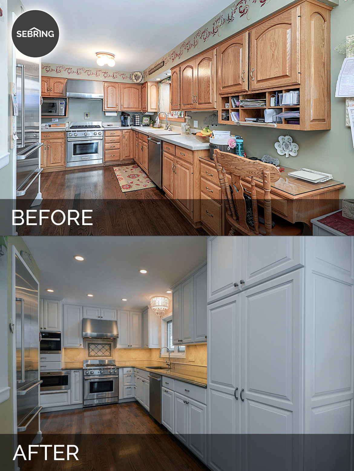Mike betty 39 s kitchen before after pictures home for Kitchen remodel before after