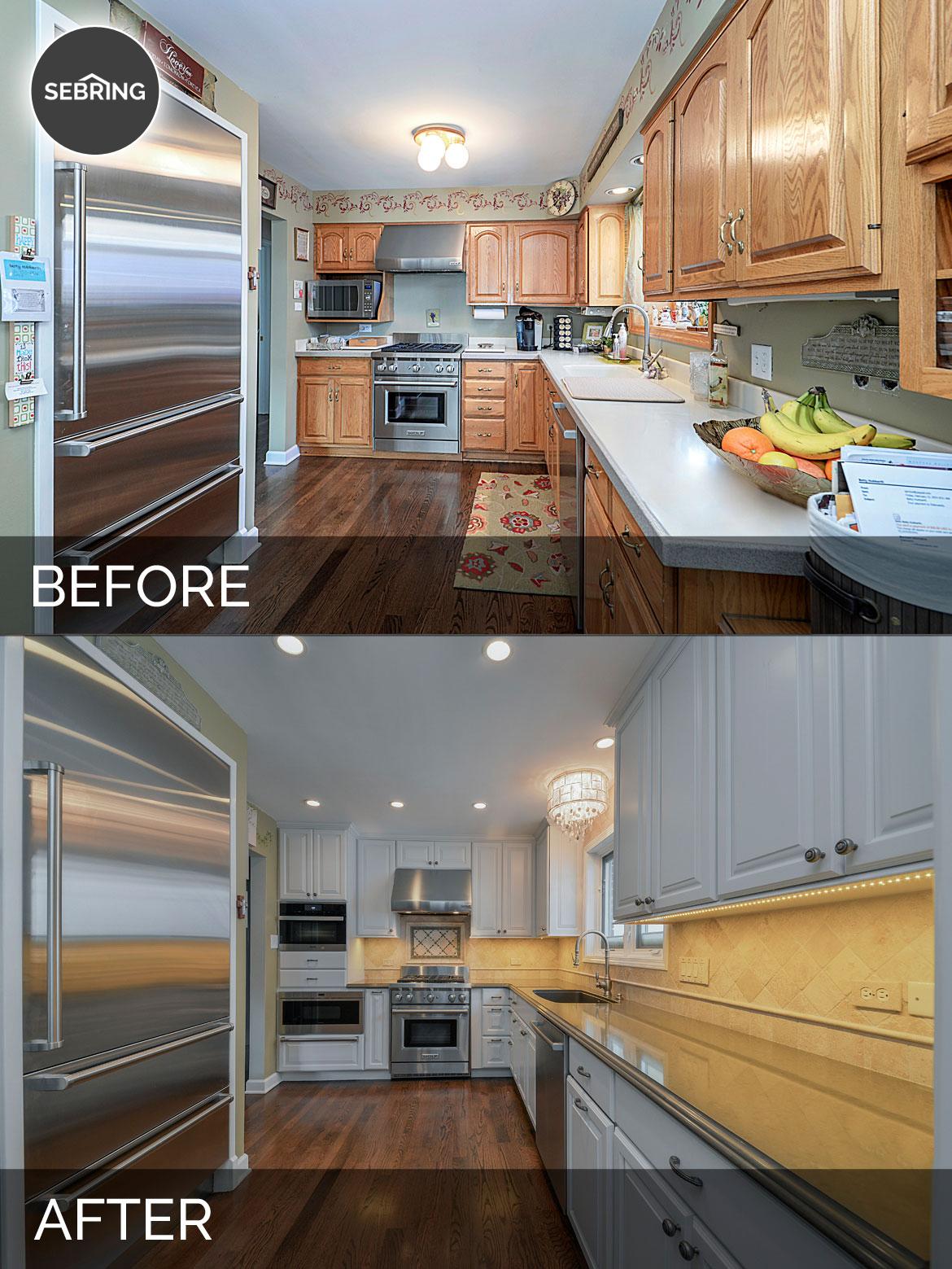 Before & After Kitchen Hinsdale - Sebring Design Build