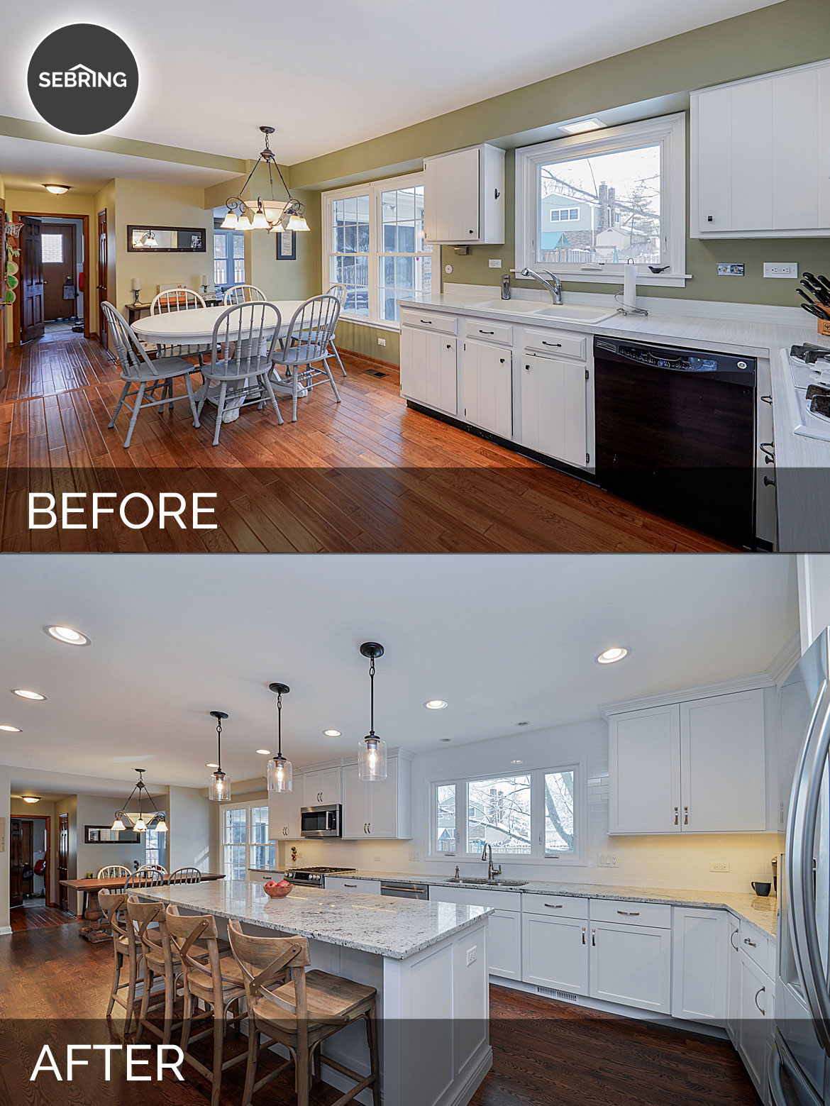 Before And After Diy Kitchen Renovation: Ryan & Missy's Kitchen Before & After Pictures