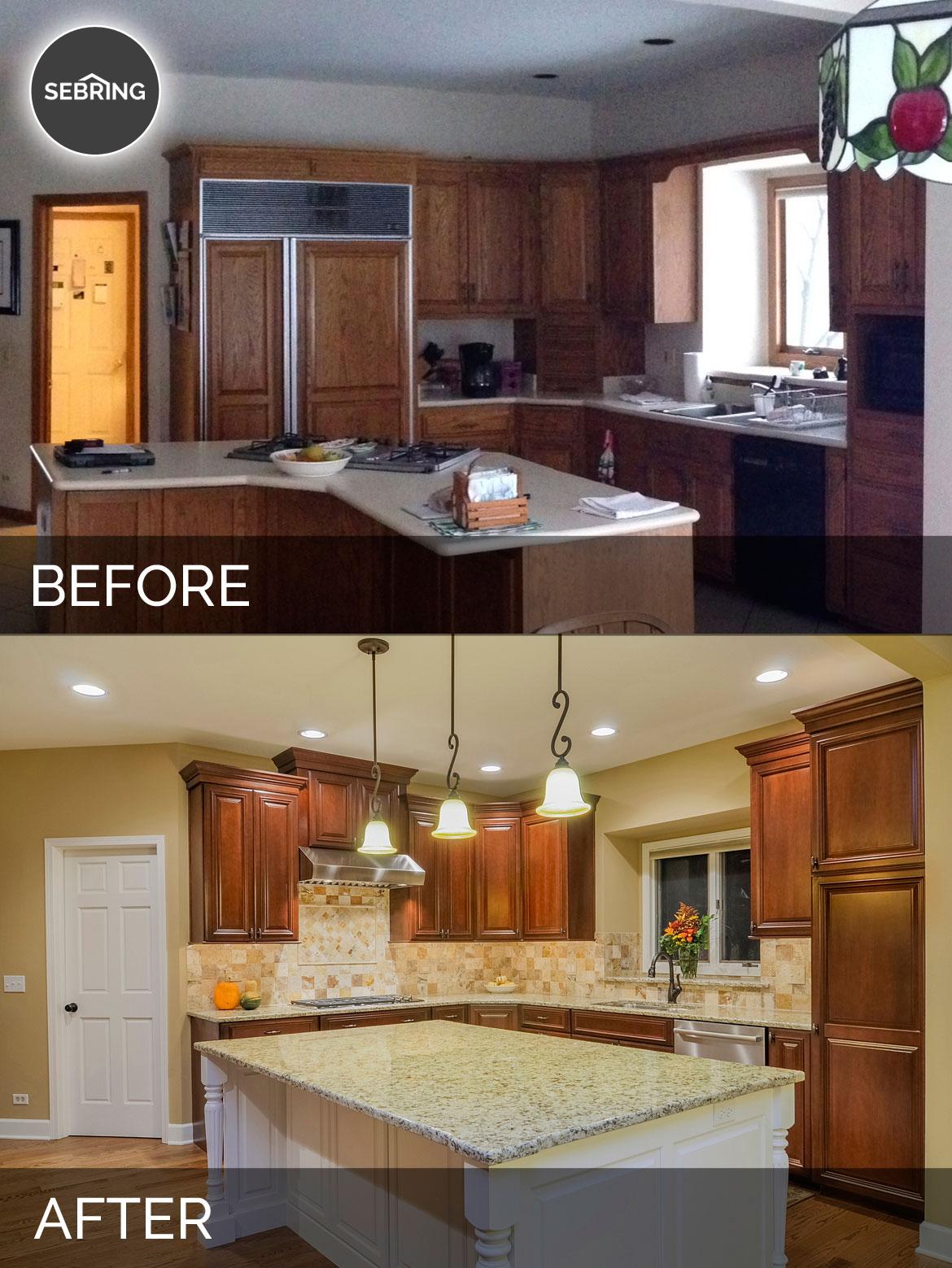 Bernard karan 39 s kitchen before after pictures home remodeling contractors sebring design Kitchen design and remodeling aurora