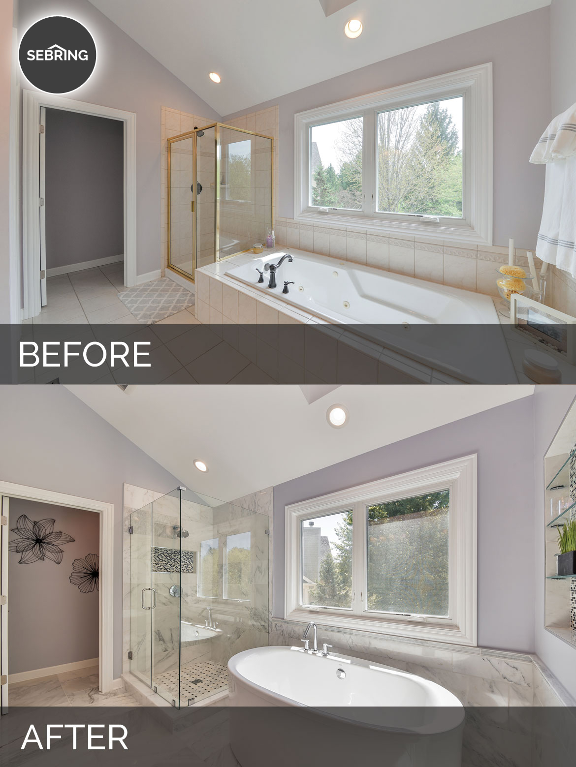 Doug natalie 39 s master bath before after pictures for Bath remodel before and after pictures