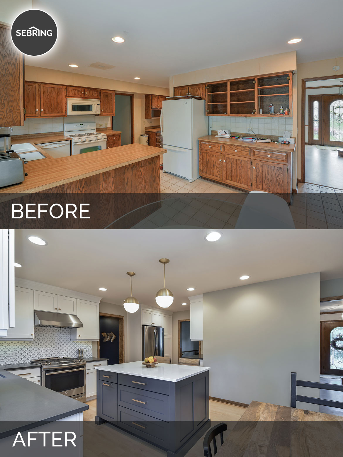 Justin Carina S Kitchen Before After Pictures Home Remodeling Contractors Sebring Design