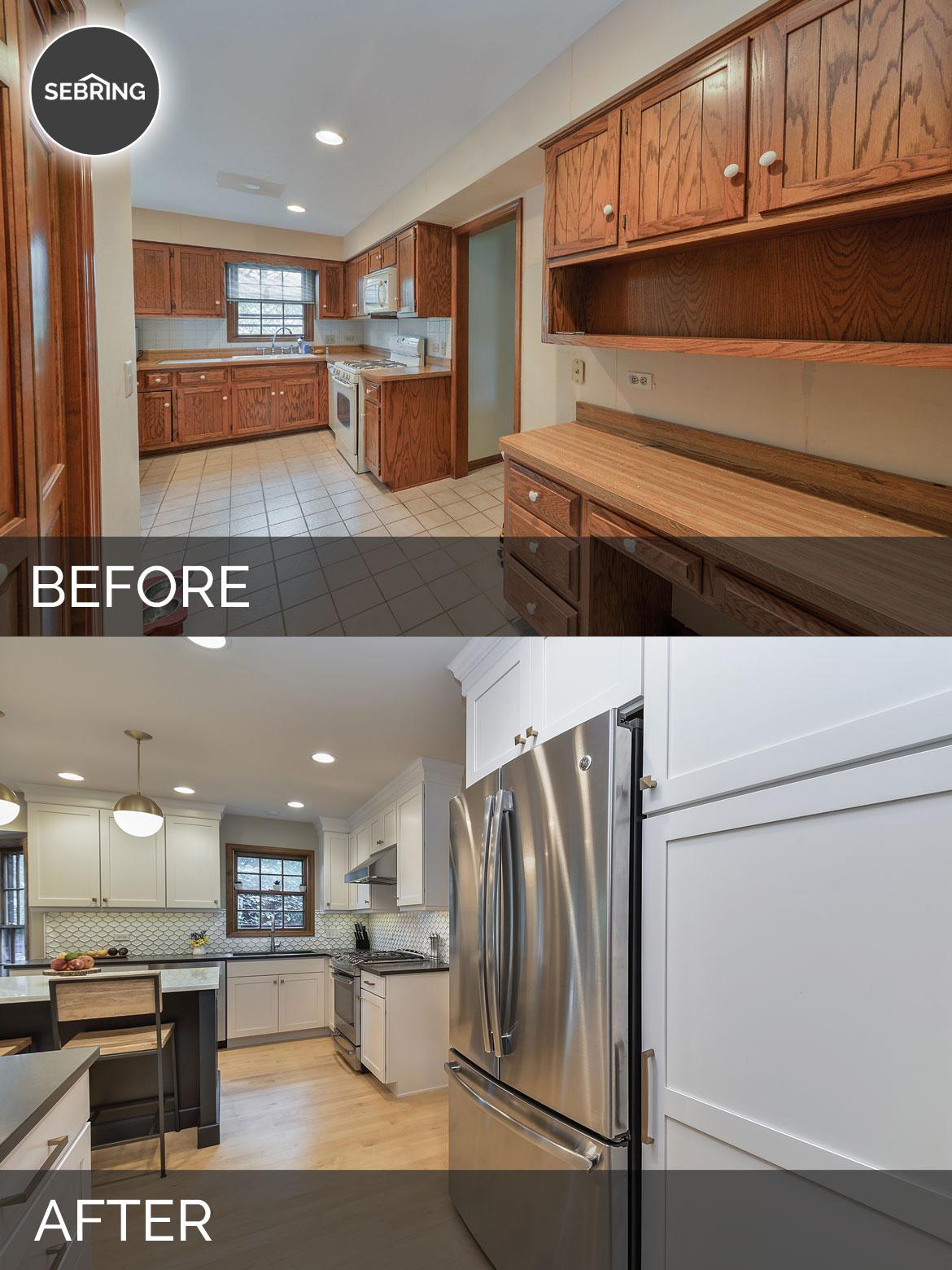 Before & After Kitchen Naperville - Sebring Design Build
