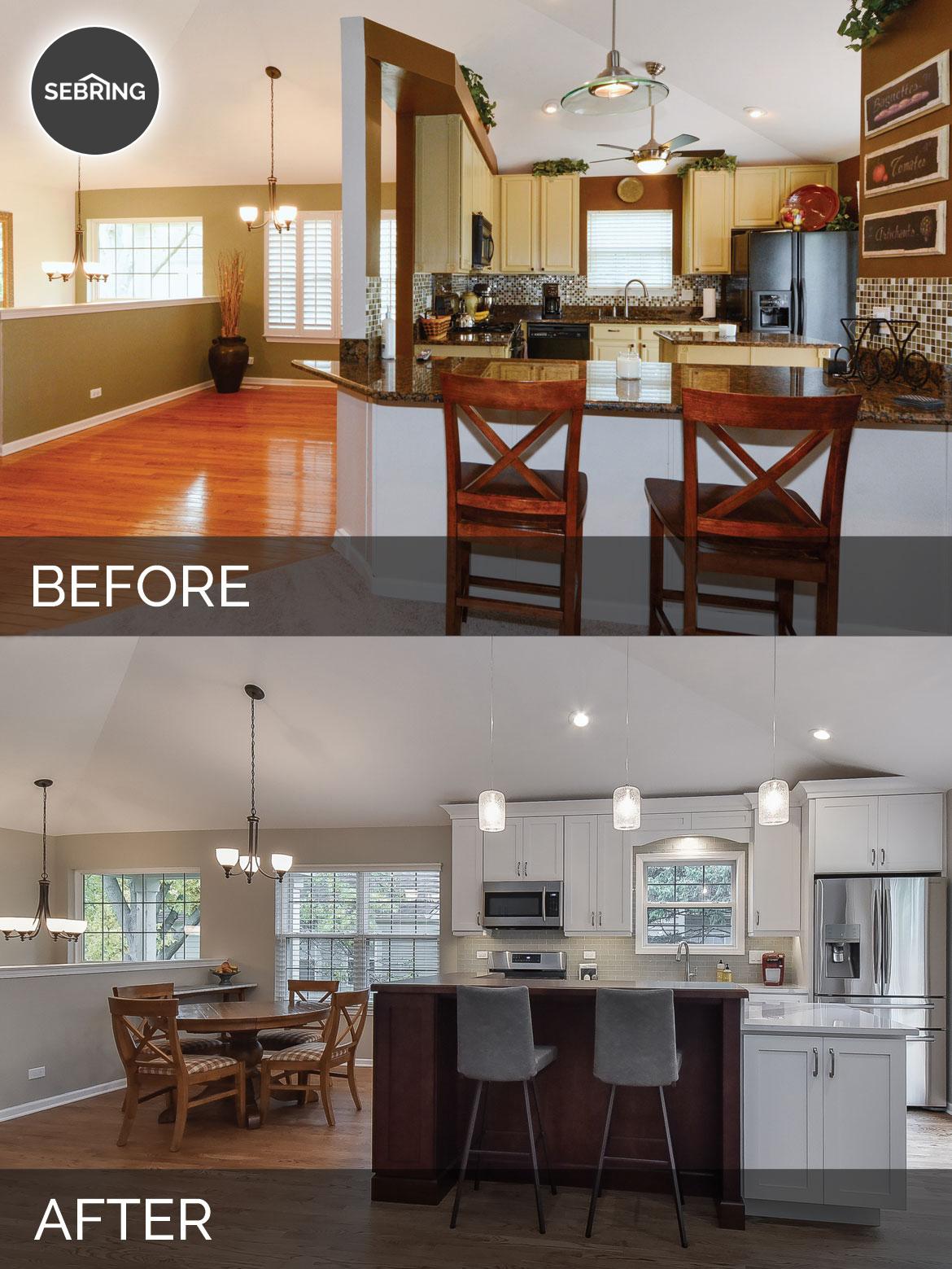Bill Carol 39 S Kitchen Before After Pictures Home Remodeling Contractors Sebring Design Build