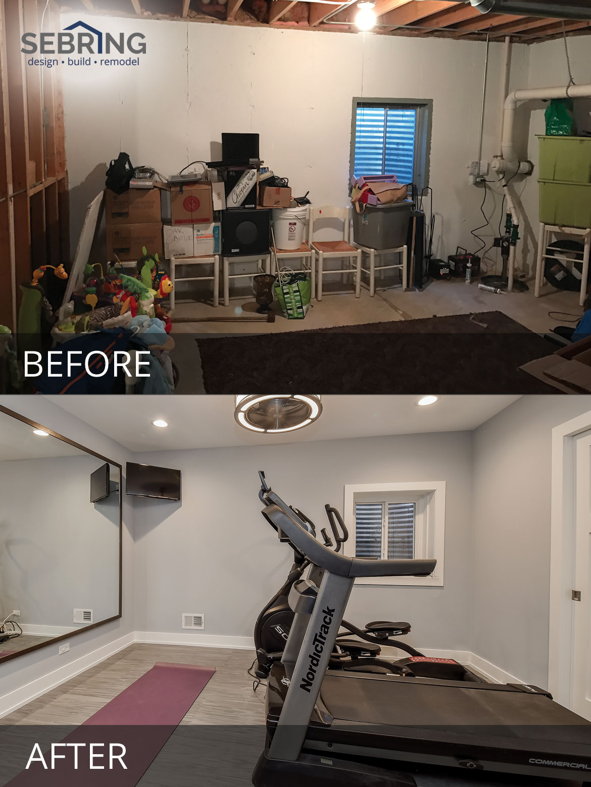 Stephan Amp Leslie S Basement Before Amp After Pictures Home