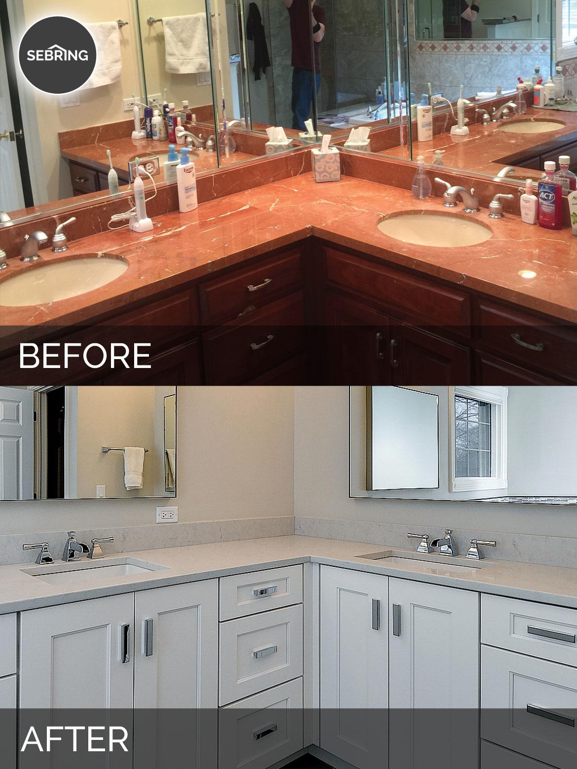 Master Bathroom Remodel Hinsdale Before & After - Sebring Design Build