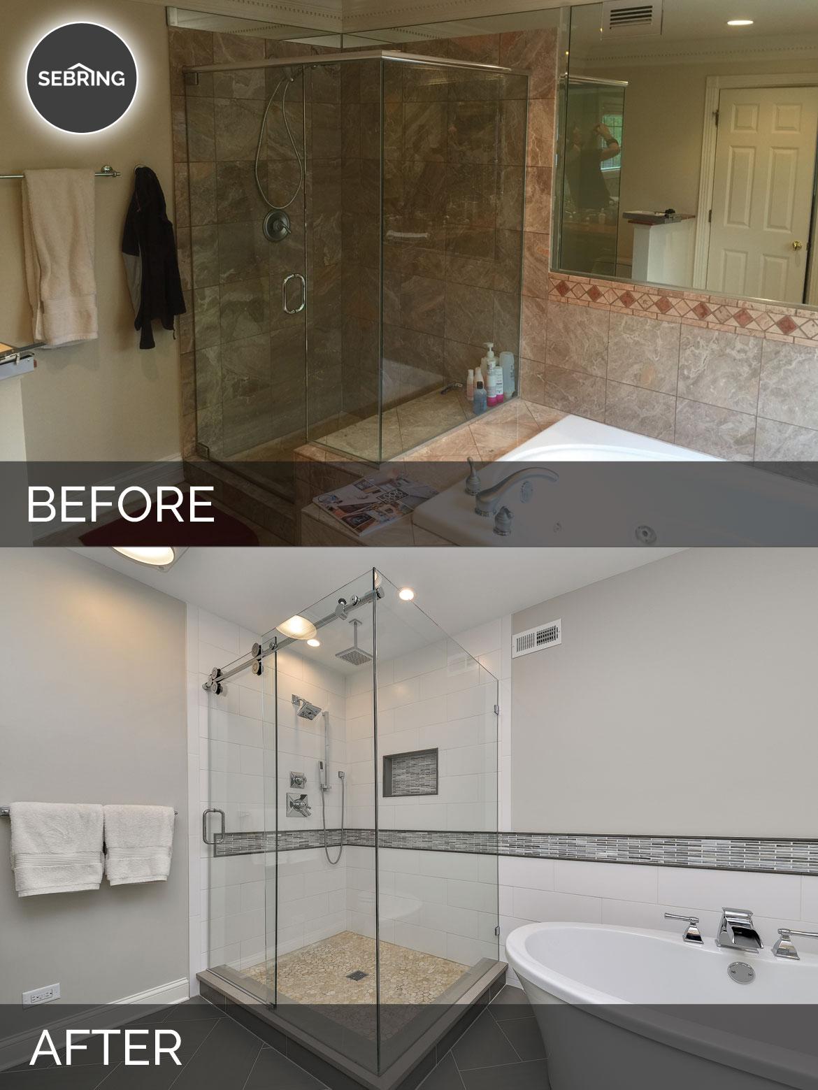Greg Julie S Master Bathroom Remodel Before After Pictures Home Remodeling Contractors Sebring Design Build