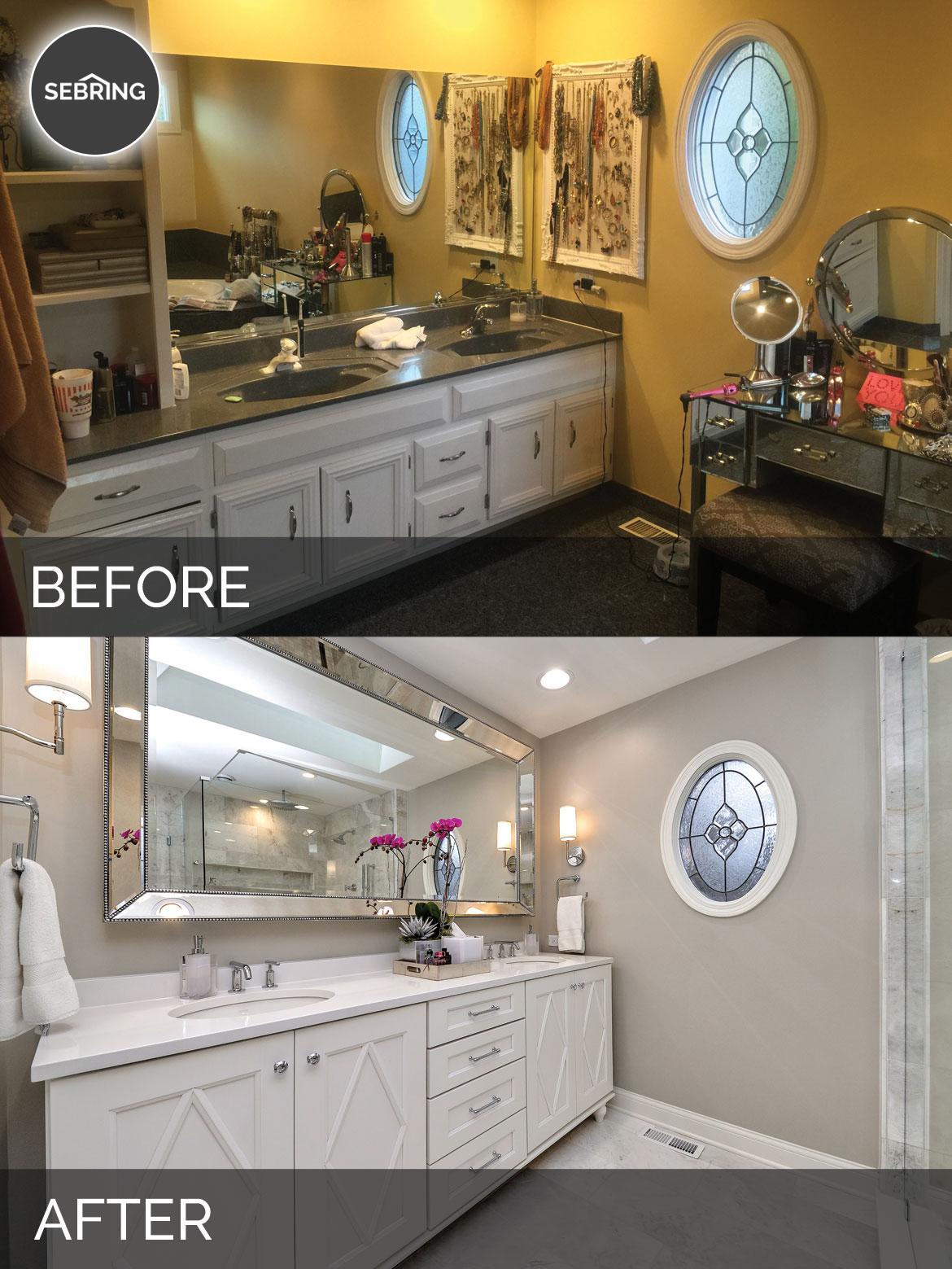 Master Bathroom Remodel Aurora Before & After - Sebring Design Build