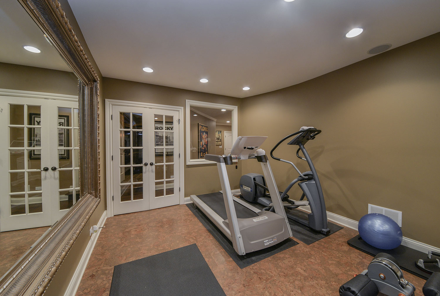 Home Gym Design: Jim & Gina's Basement Remodel Pictures
