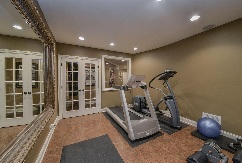 Workout Exercise Room Finished Basement Remodeling Naperville Sebring Services