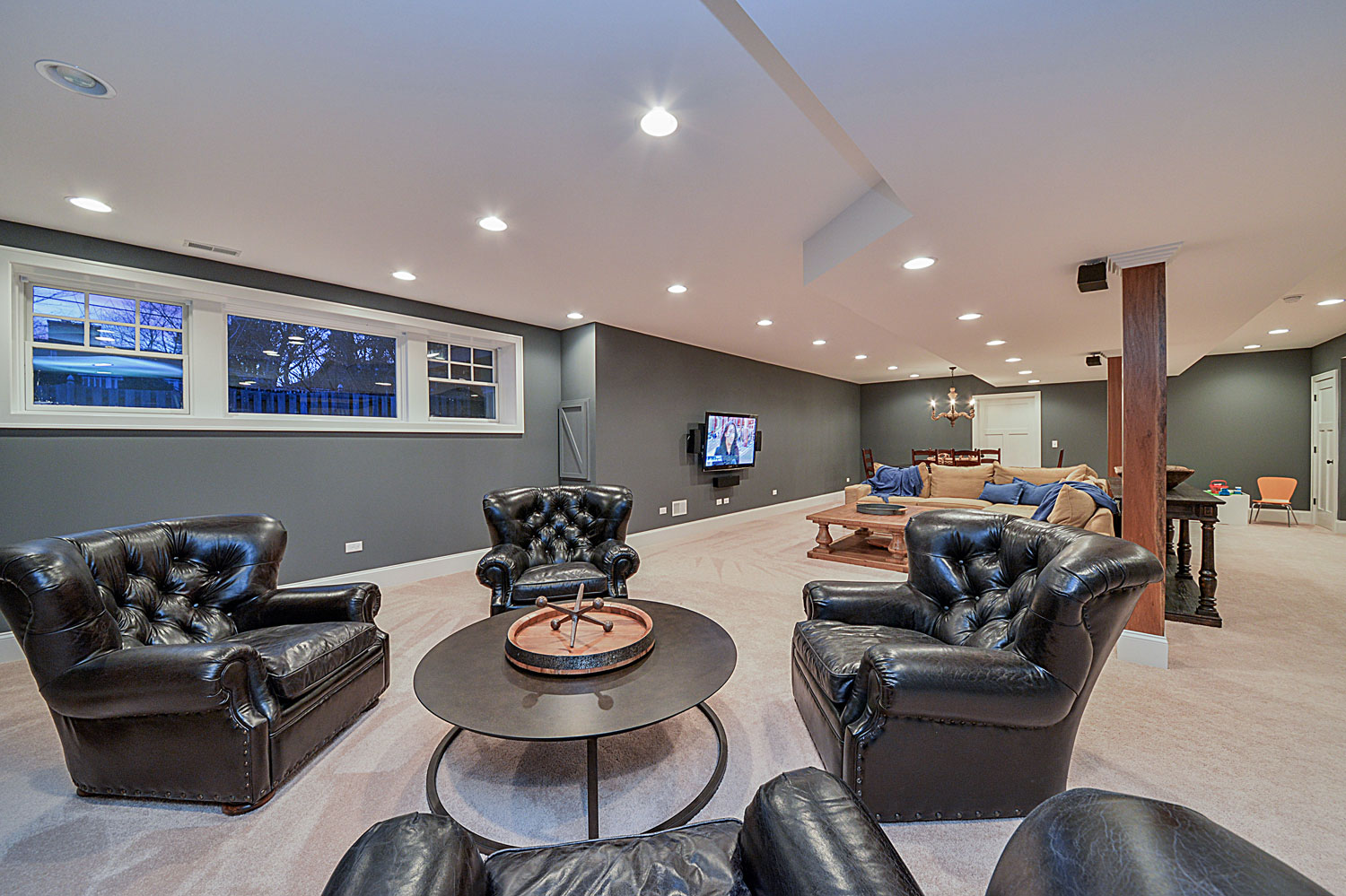... Custom Wet Bar Pool Table Finished Basement Remodeling Ideas Wheaton  Sebring Services ...