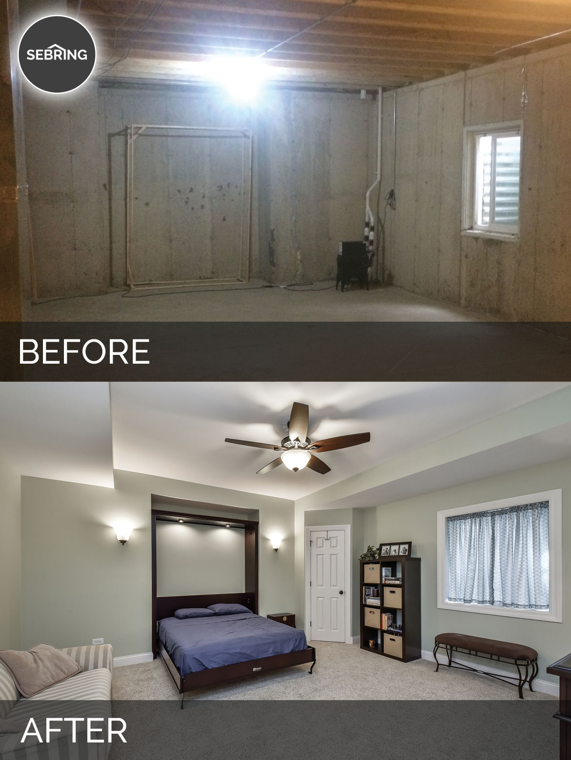 Brian Amp Kelli S Basement Before Amp After Pictures Home