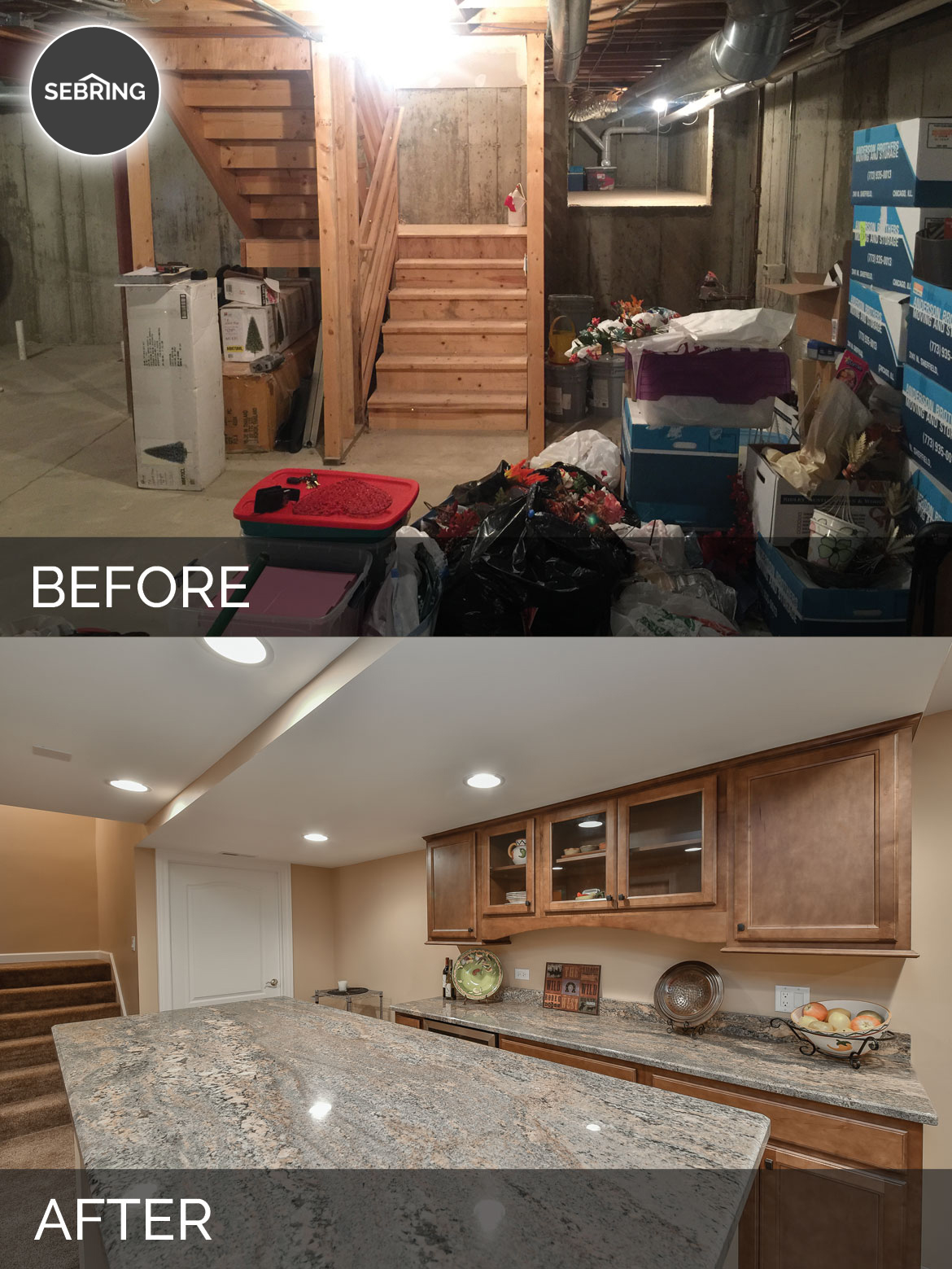 Carole's Basement Before & After Pictures