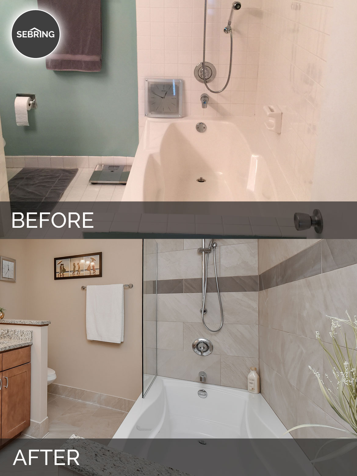 Barb S Master Bath Before After Pictures Home Remodeling