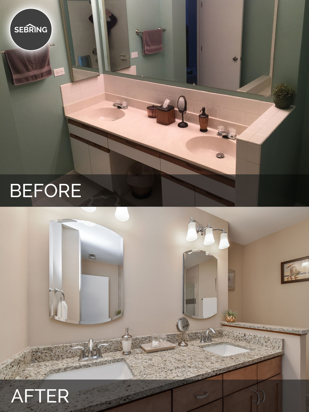 Before After Master Bath Willowbrook