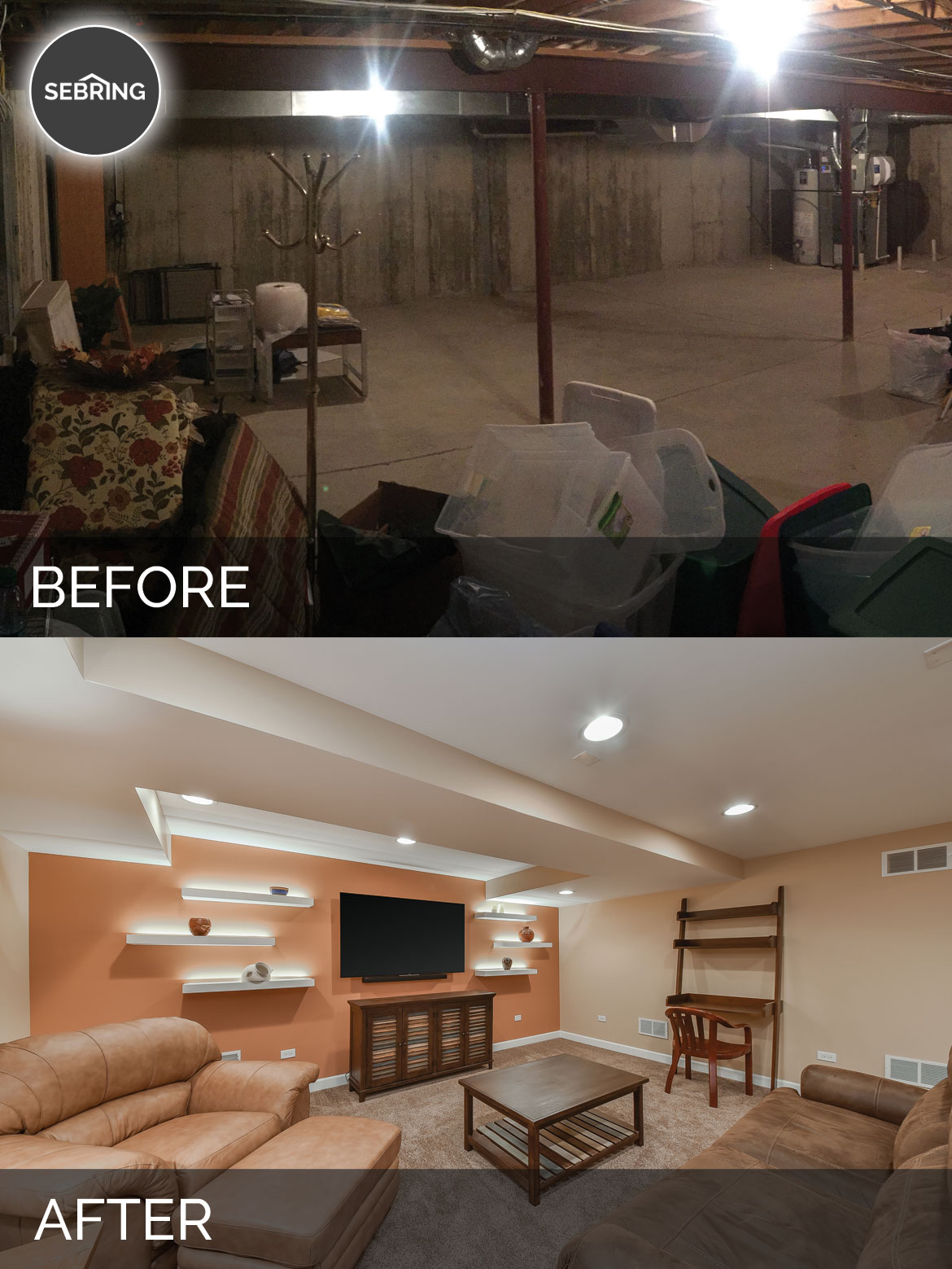 Carole s basement before after pictures home
