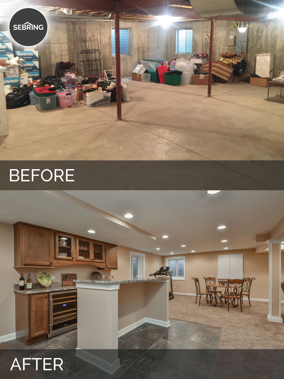 Carole S Basement Before After Pictures Home Remodeling Contractors Sebring Design Build