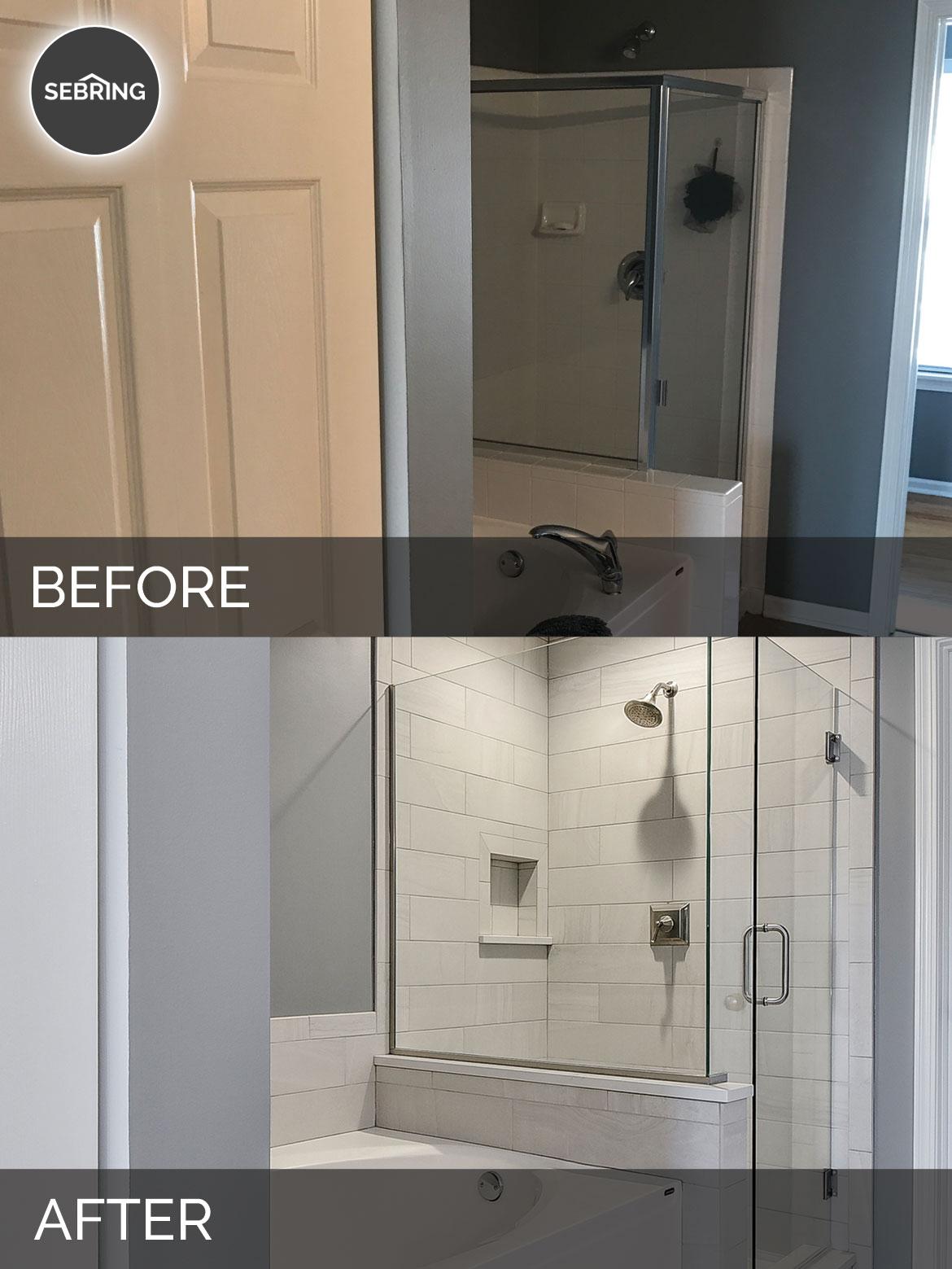 Plainfield Master Bathroom Before & After - Sebring Design Build