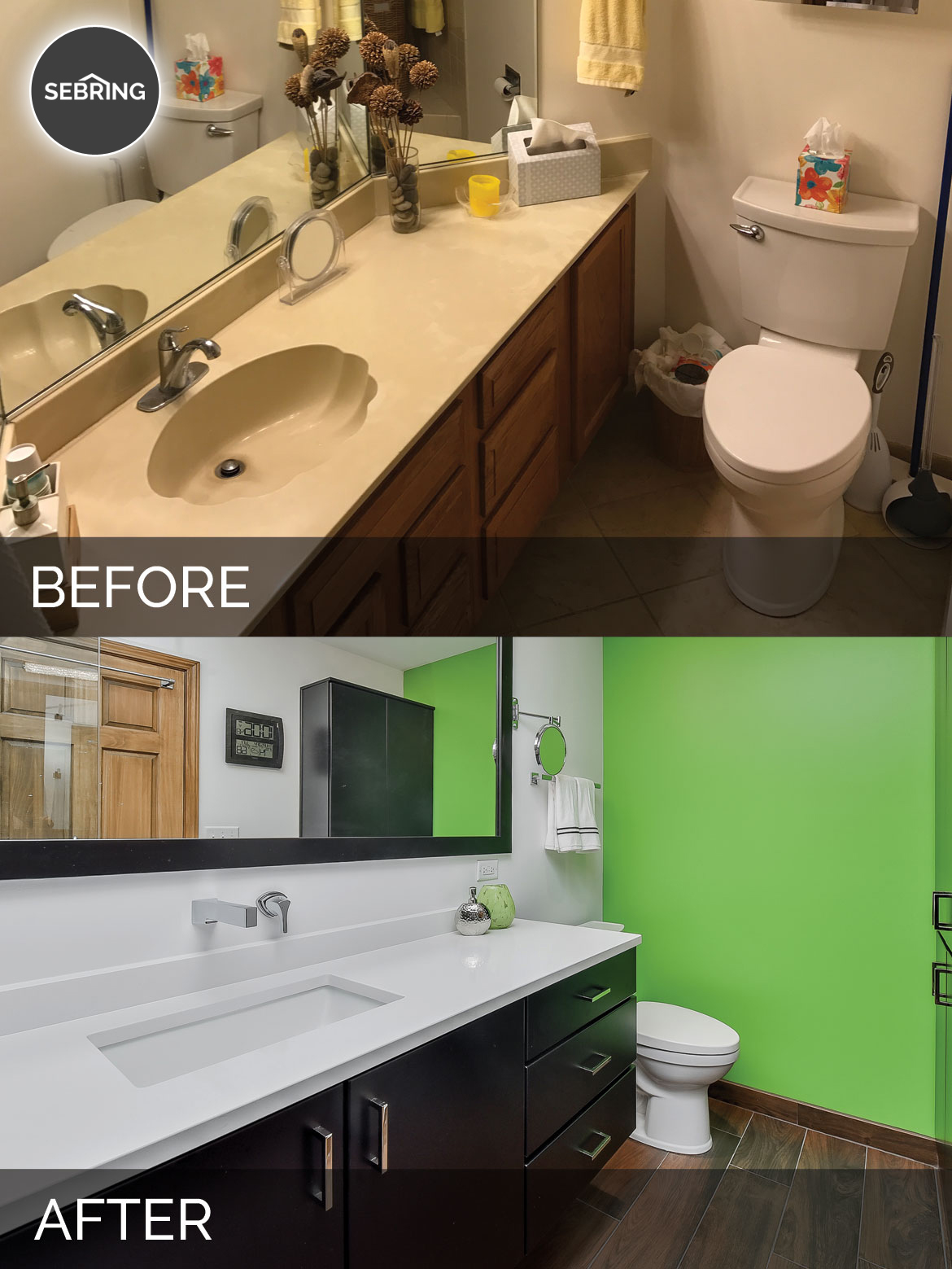 Clay amp Mias Master Bathroom Before After Pictures
