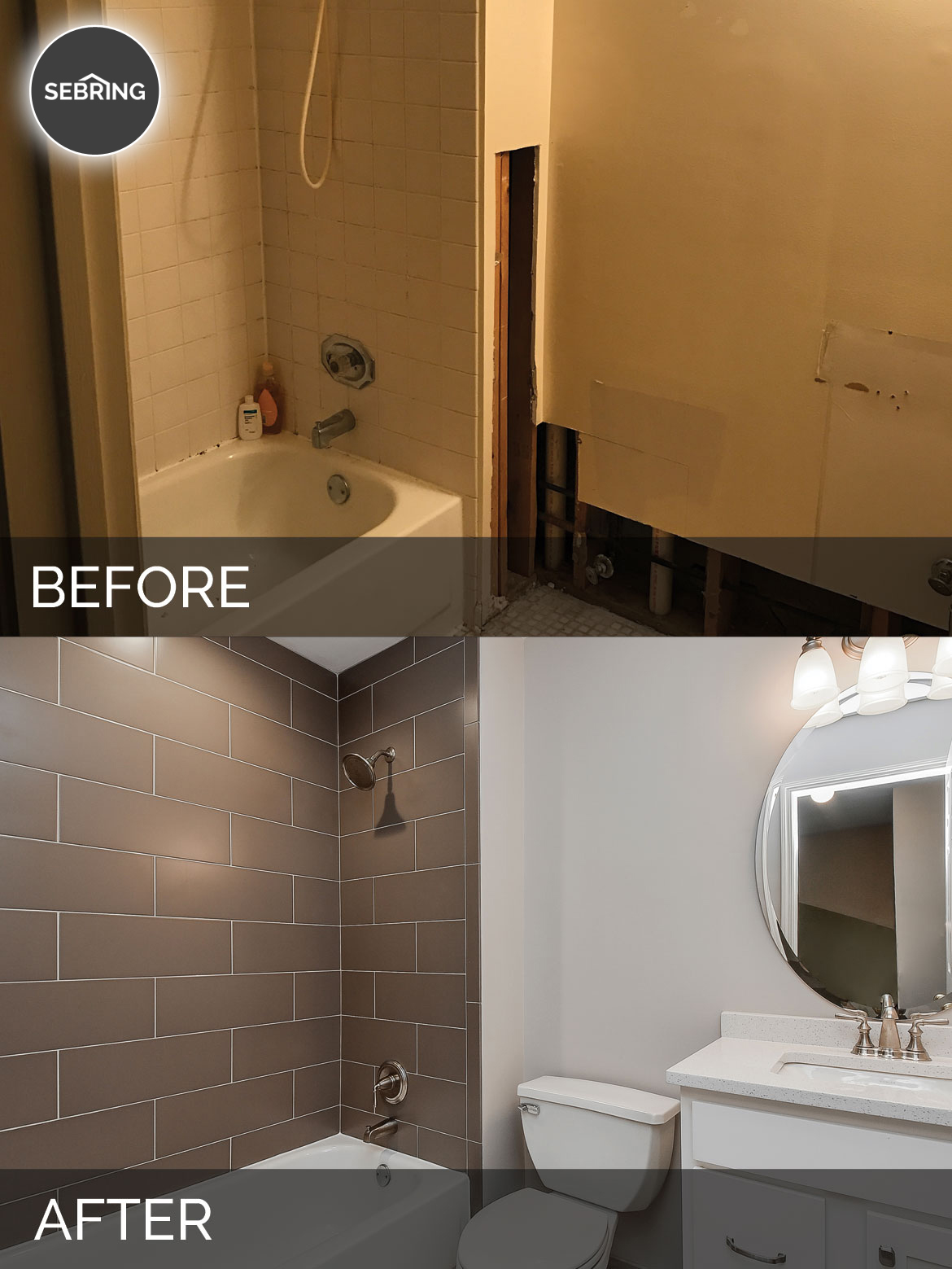 Charles Amp Cindy S Hall Bathroom Before Amp After Pictures
