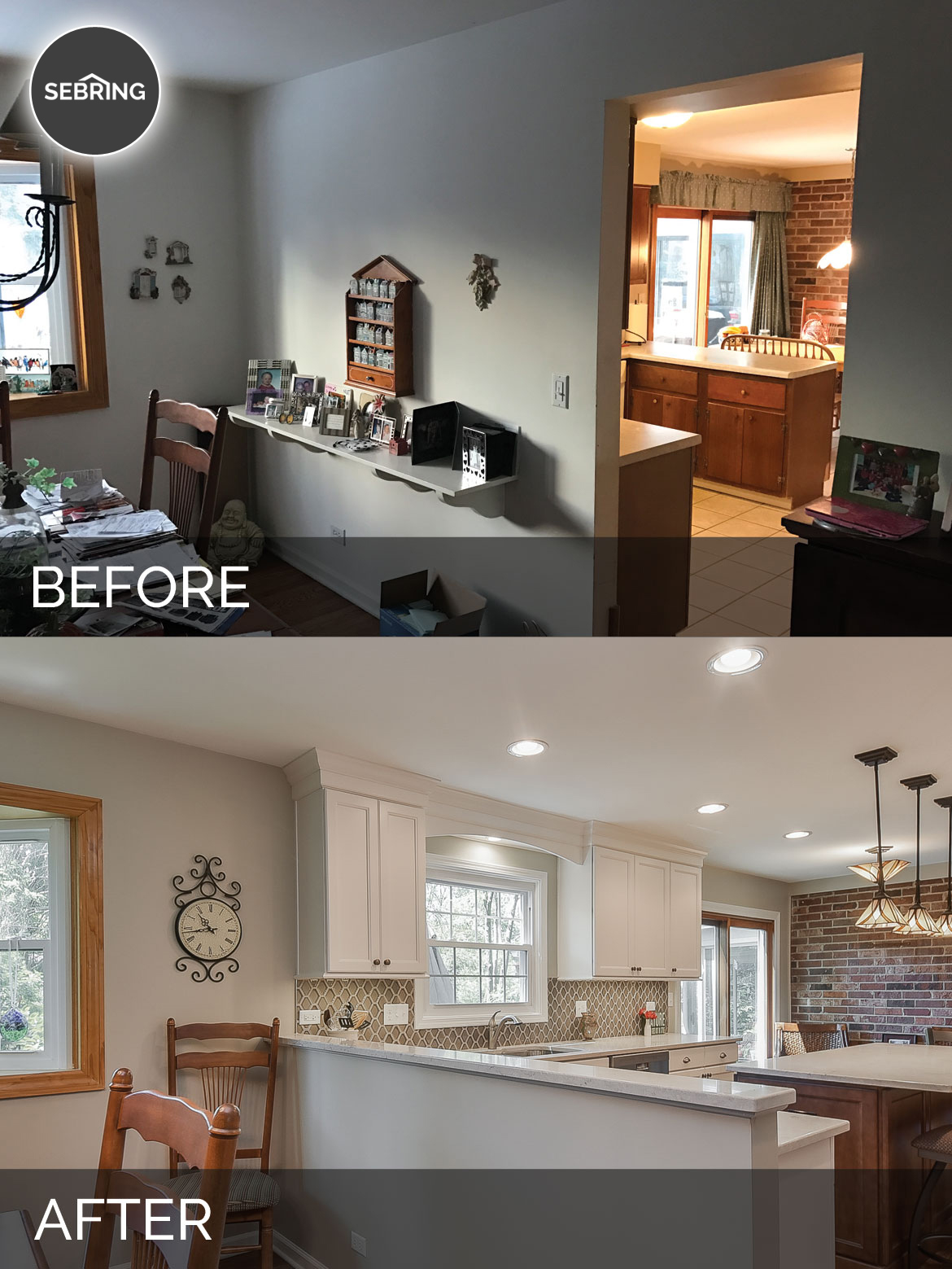 Scott & Ann's Kitchen Before & After Pictures