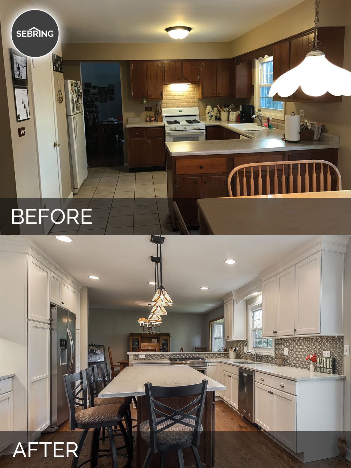 Before & After Kitchen Naperville - Sebring Design Build