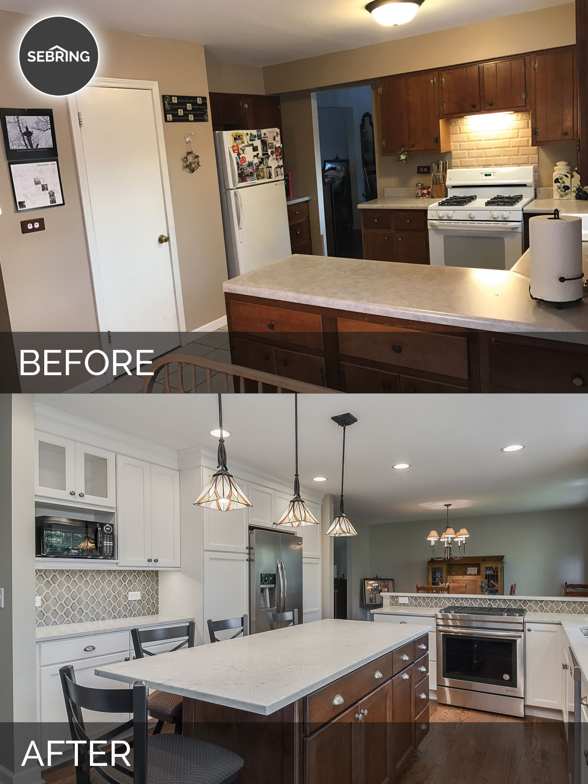 Scott & Ann\'s Kitchen Before & After Pictures | Home Remodeling ...