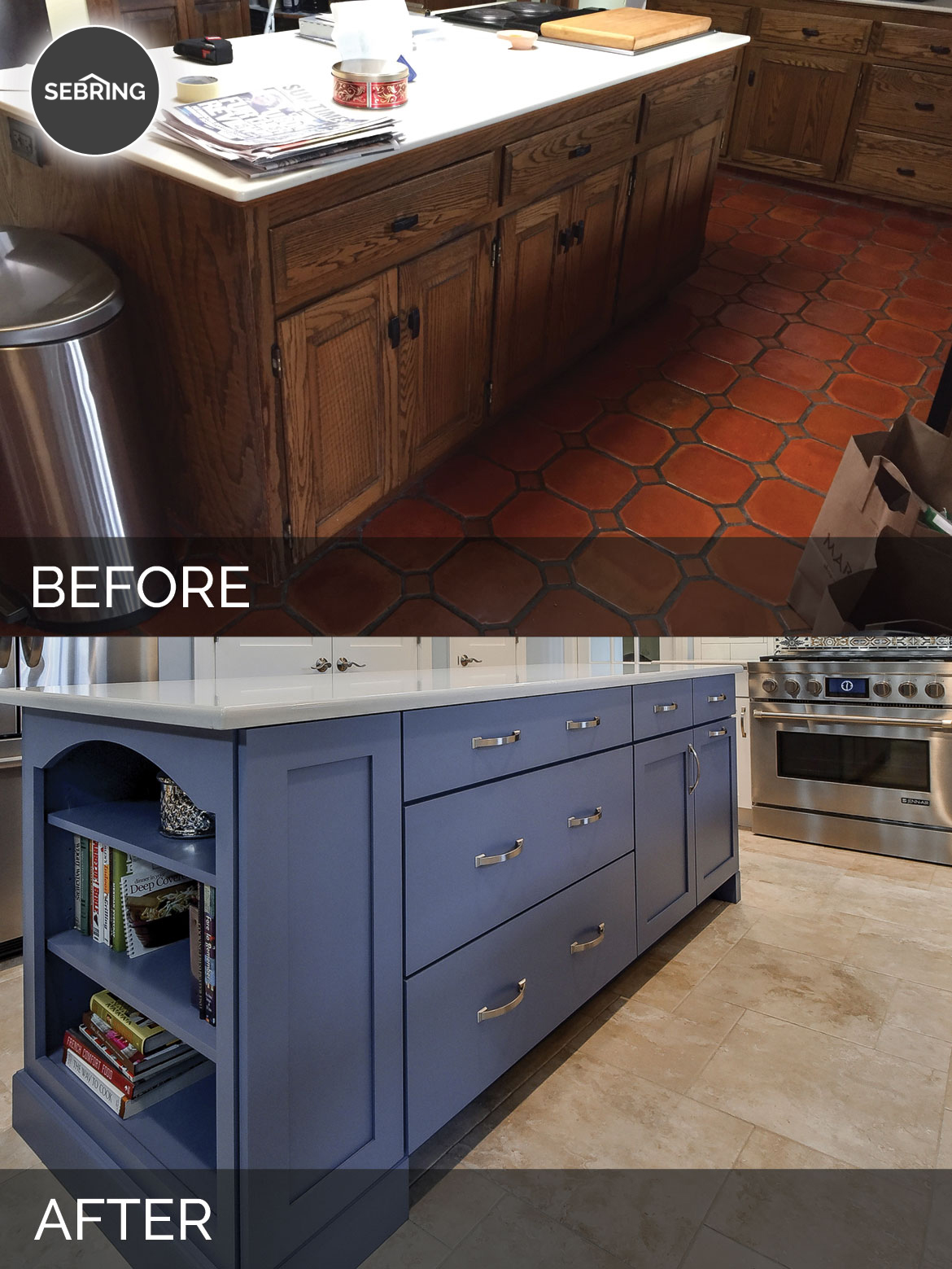 Before & After Kitchen Warrenville - Sebring Design Build