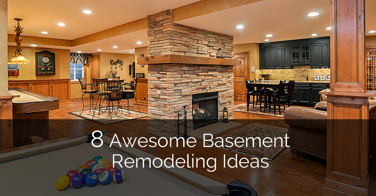 8 awesome basement remodeling ideas plus a bonus 8 for Remodeling ideas