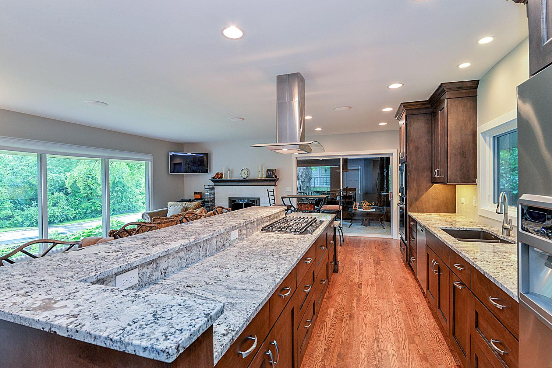 ... Kitchen Remodeling Ideas Wood Cabinetry White Granite Aurora Naperville  IL Illinois Sebring Services ...