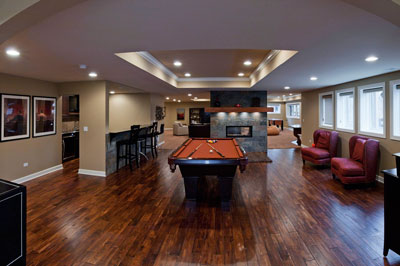 Archway Gaming Room Finished Basement Remodeling Ideas Naperville Sebring Services