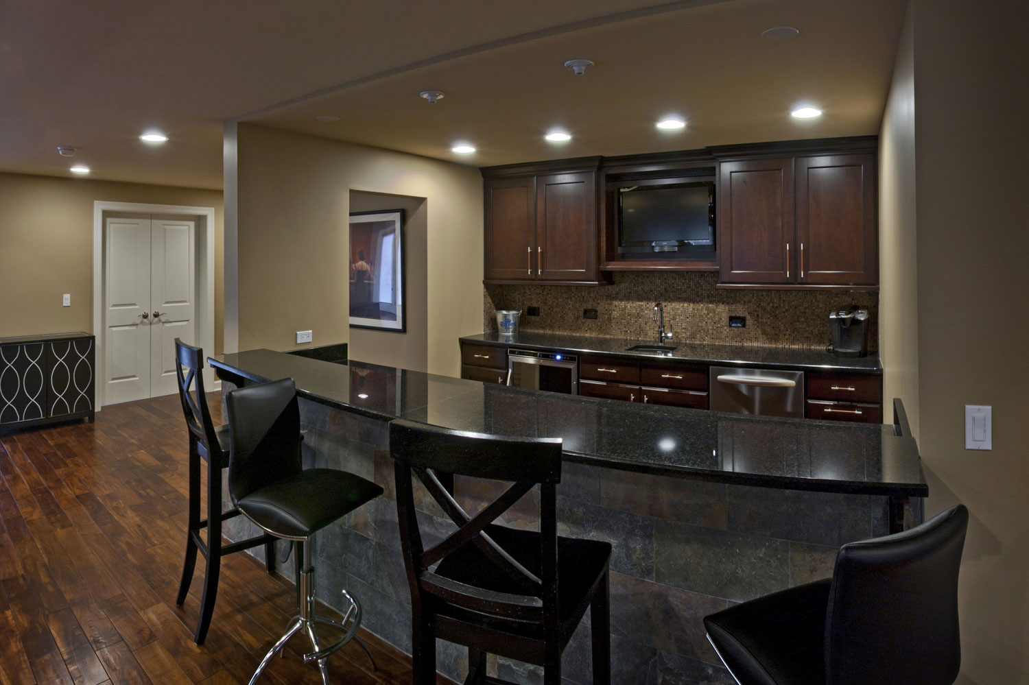... Archway Gaming Room Finished Basement Remodeling Ideas Naperville  Sebring Services ...