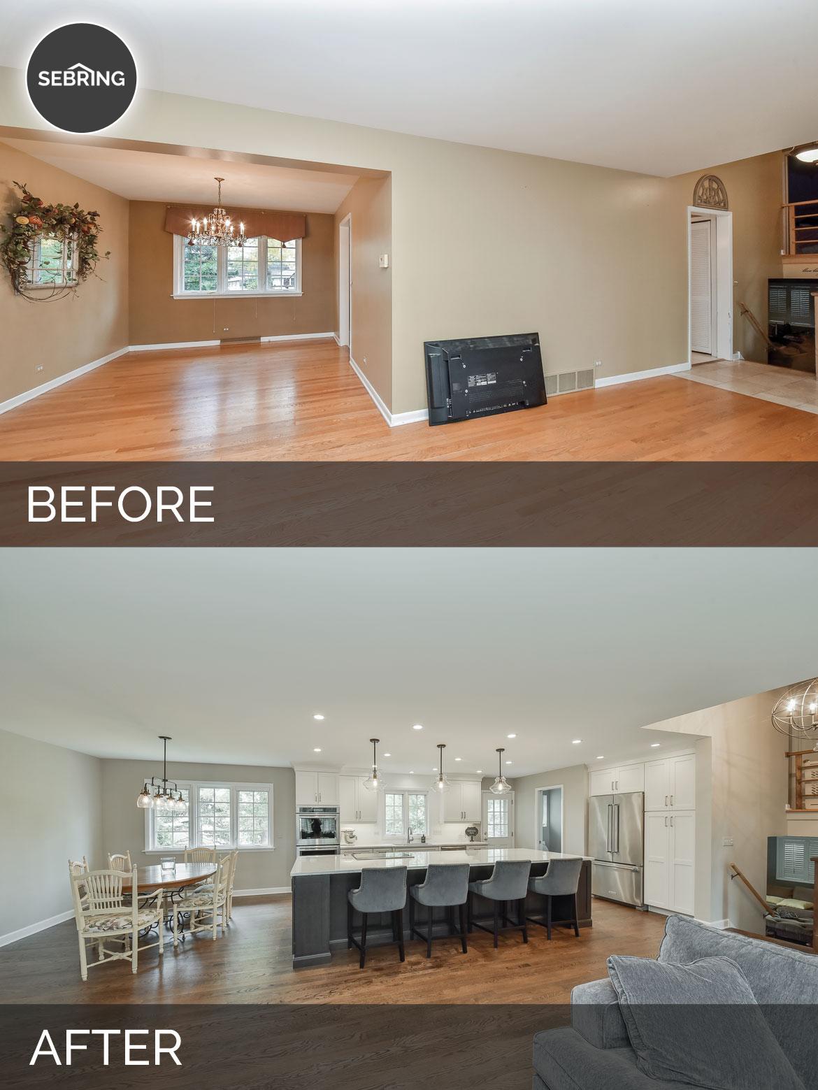 Before & After Kitchen Elmhurst - Sebring Design Build
