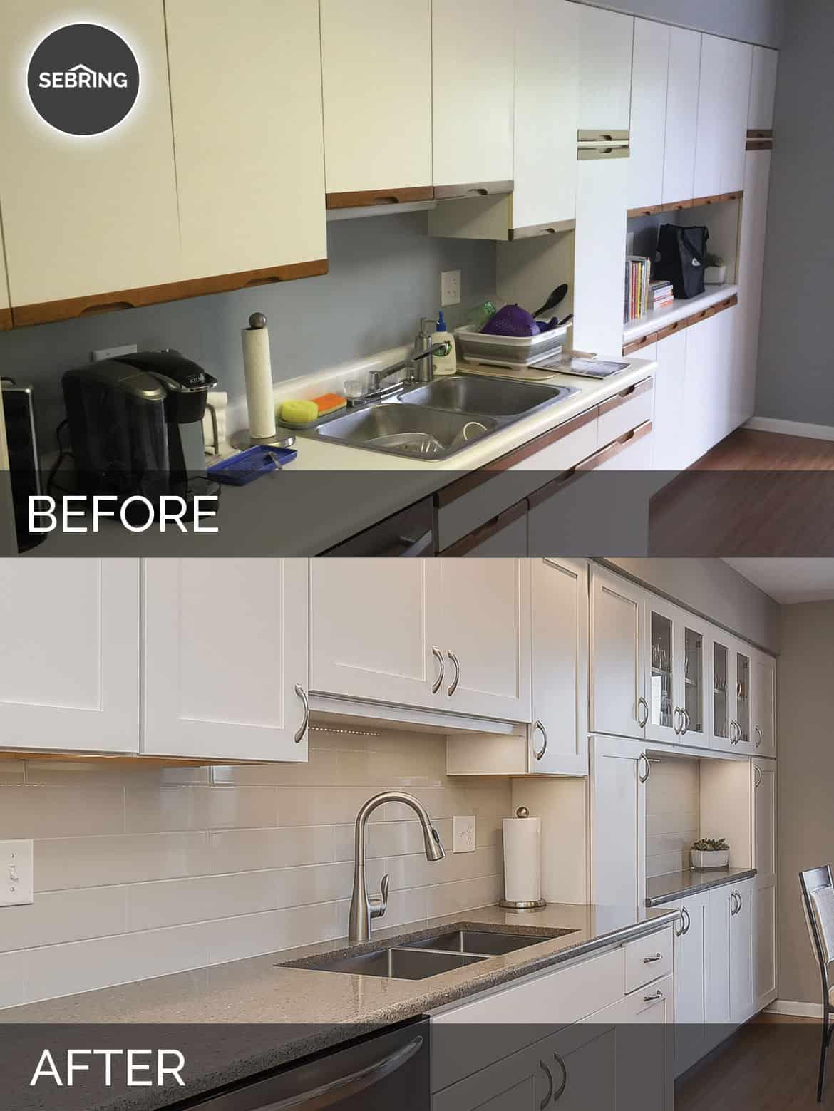 Willowbrook Before & After Kitchen - Sebring Design Build