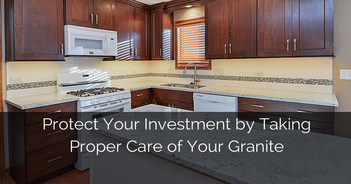 Taking Care Of Granite Kitchen Countertops