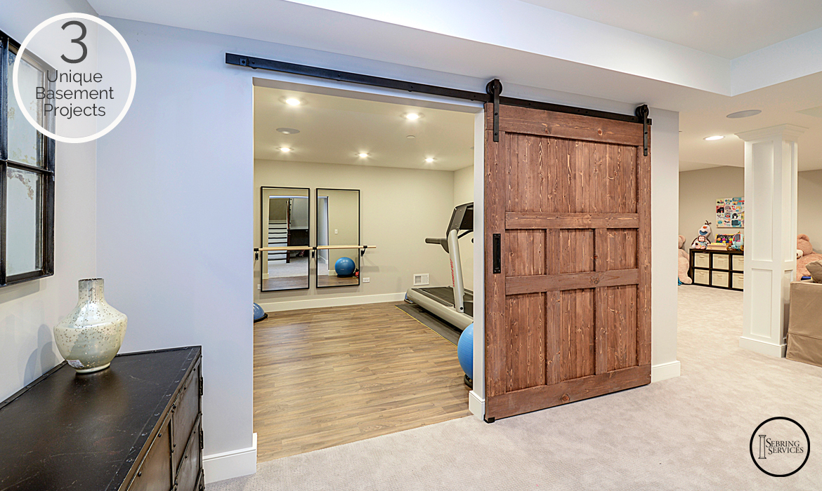 3 unique basement finishing projects you will love home remodeling contractors sebring - Basement design services ...