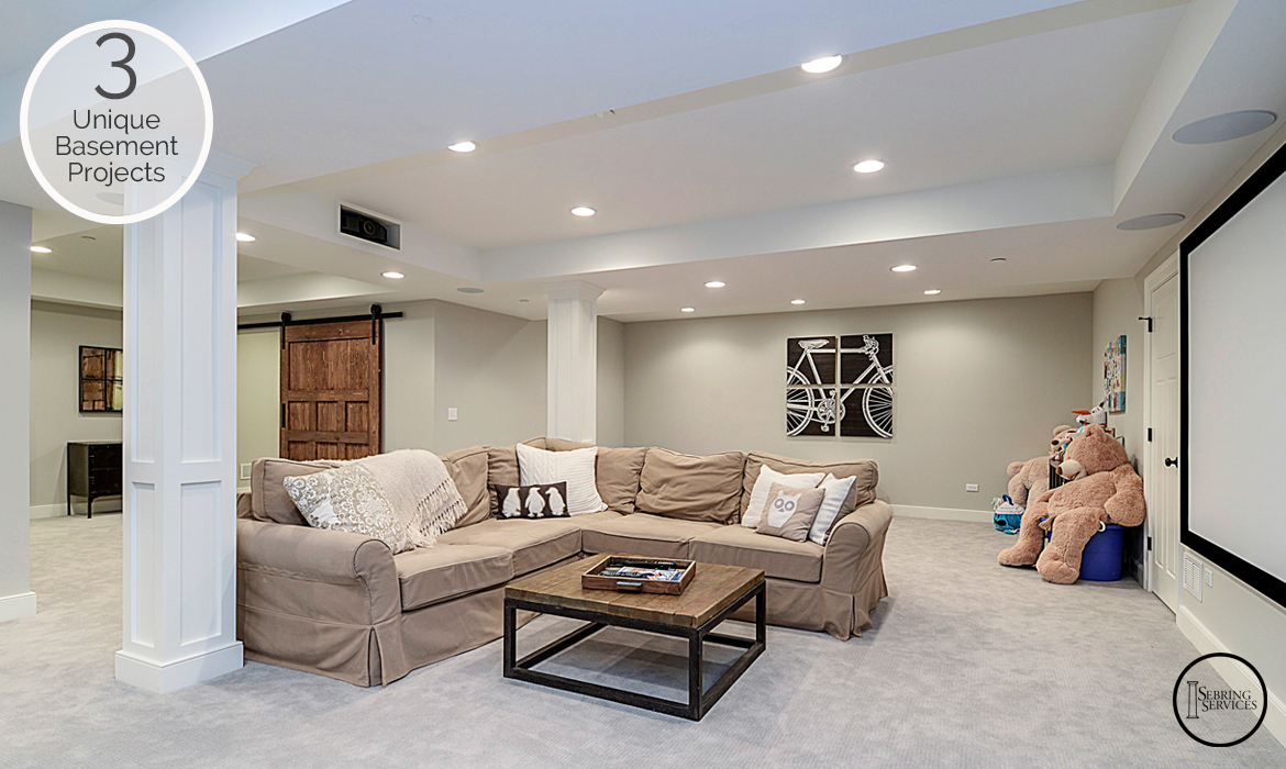 3 Unique Basement Finishing Projects Stairs Sebring Services