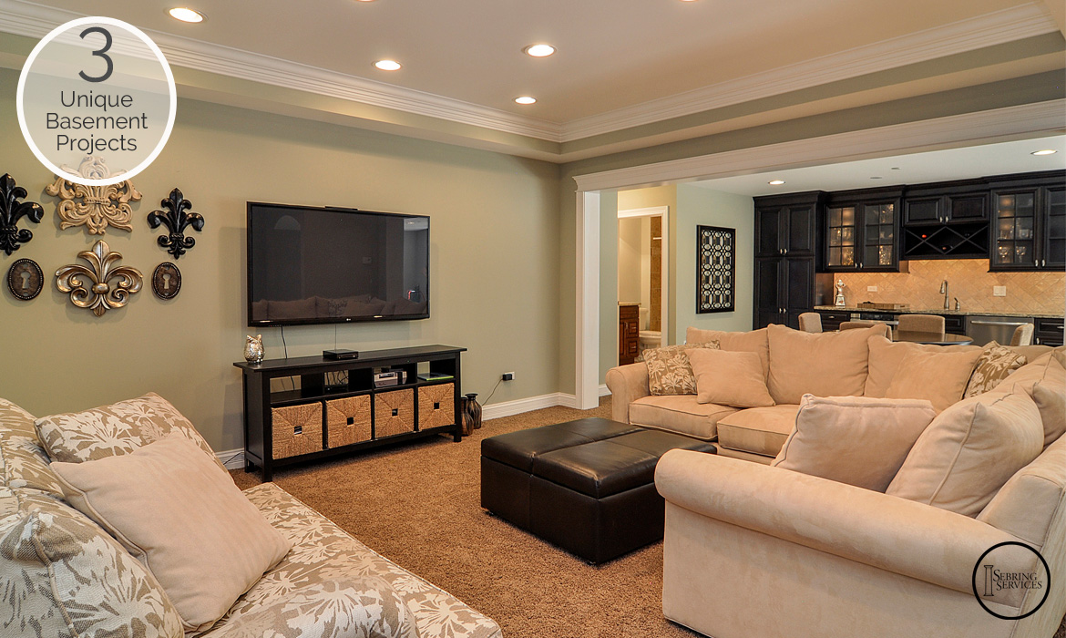 3 Unique Basement Finishing Projects TV Area Sebring Services
